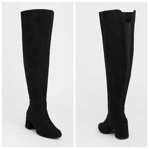 Torrid Black Faux Suede Over The Knee Boots 11W